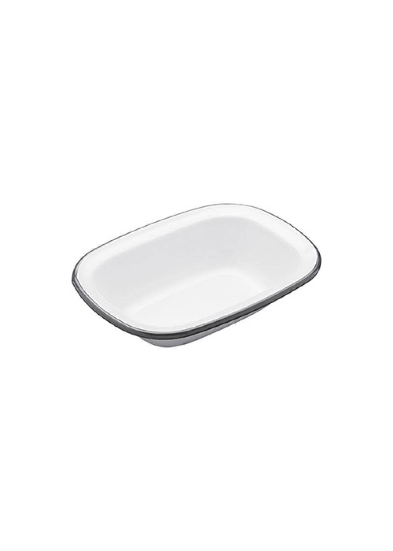 Zdjelica za pitu emaj, bijela