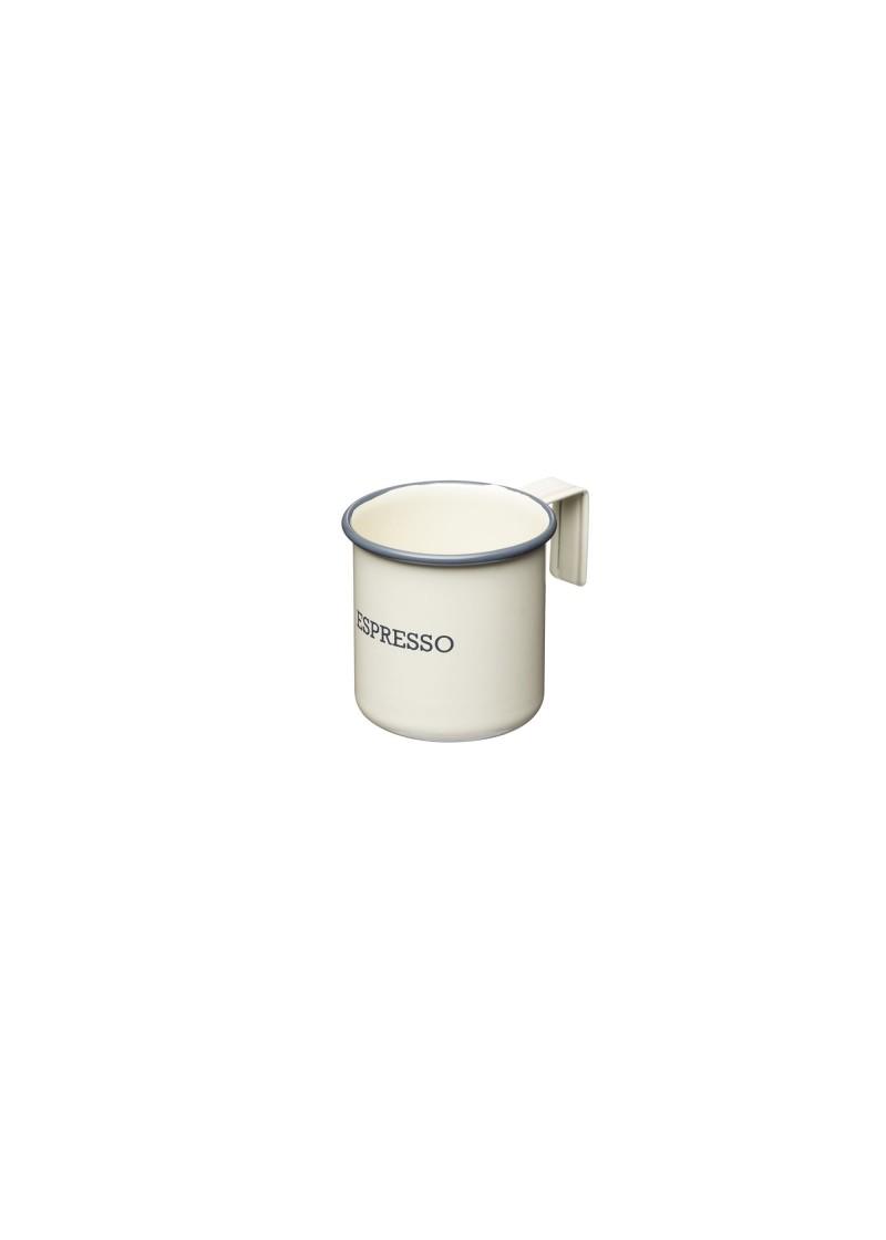 Šalica za espresso emajl, krem