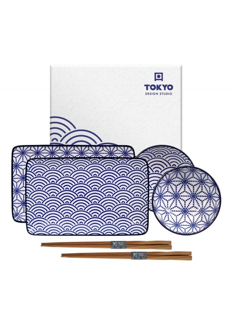 Sushi set Nippon Blue
