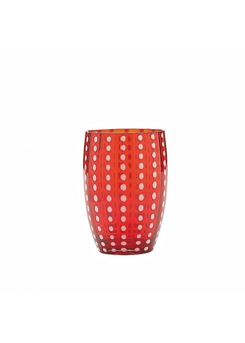 Čaša Perla 32 cl, crvena