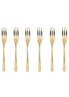 Vilice 6/1 Taste-PVD, zlatne